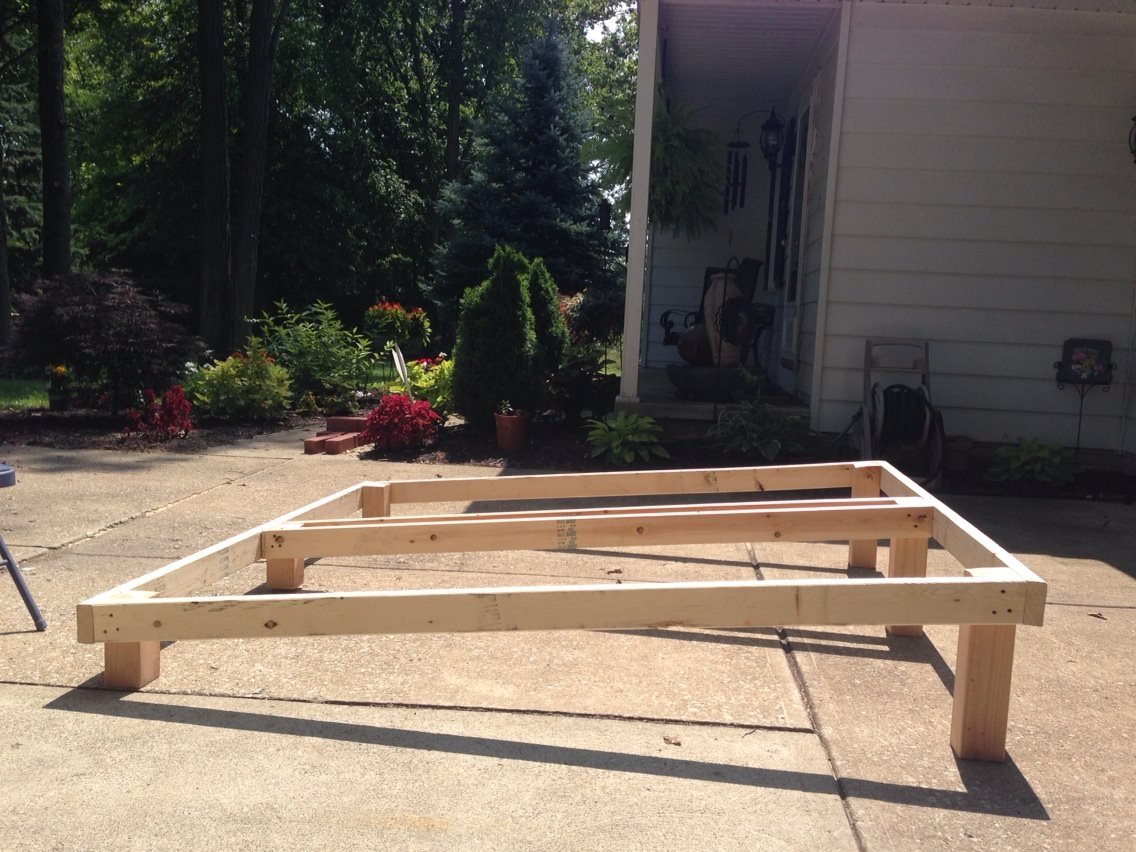 Home made Inclined Bed Frame by Cindi Phoenix