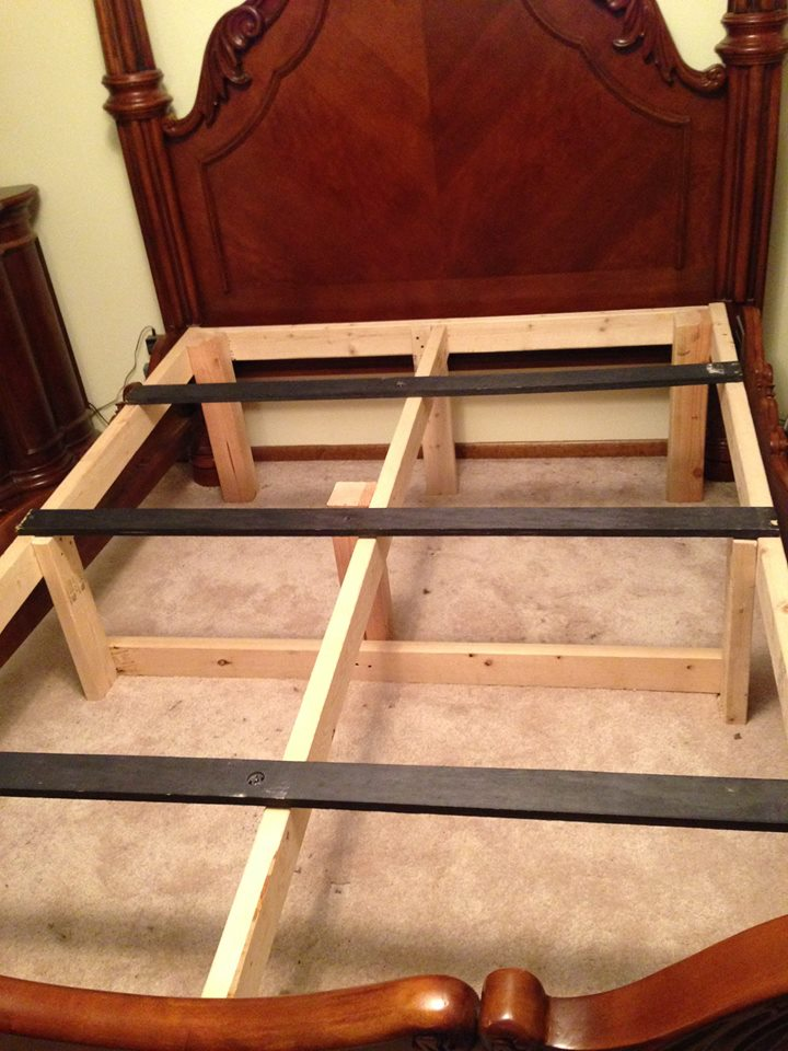 Here we can see Cindi's inclined bed therapy frame completed