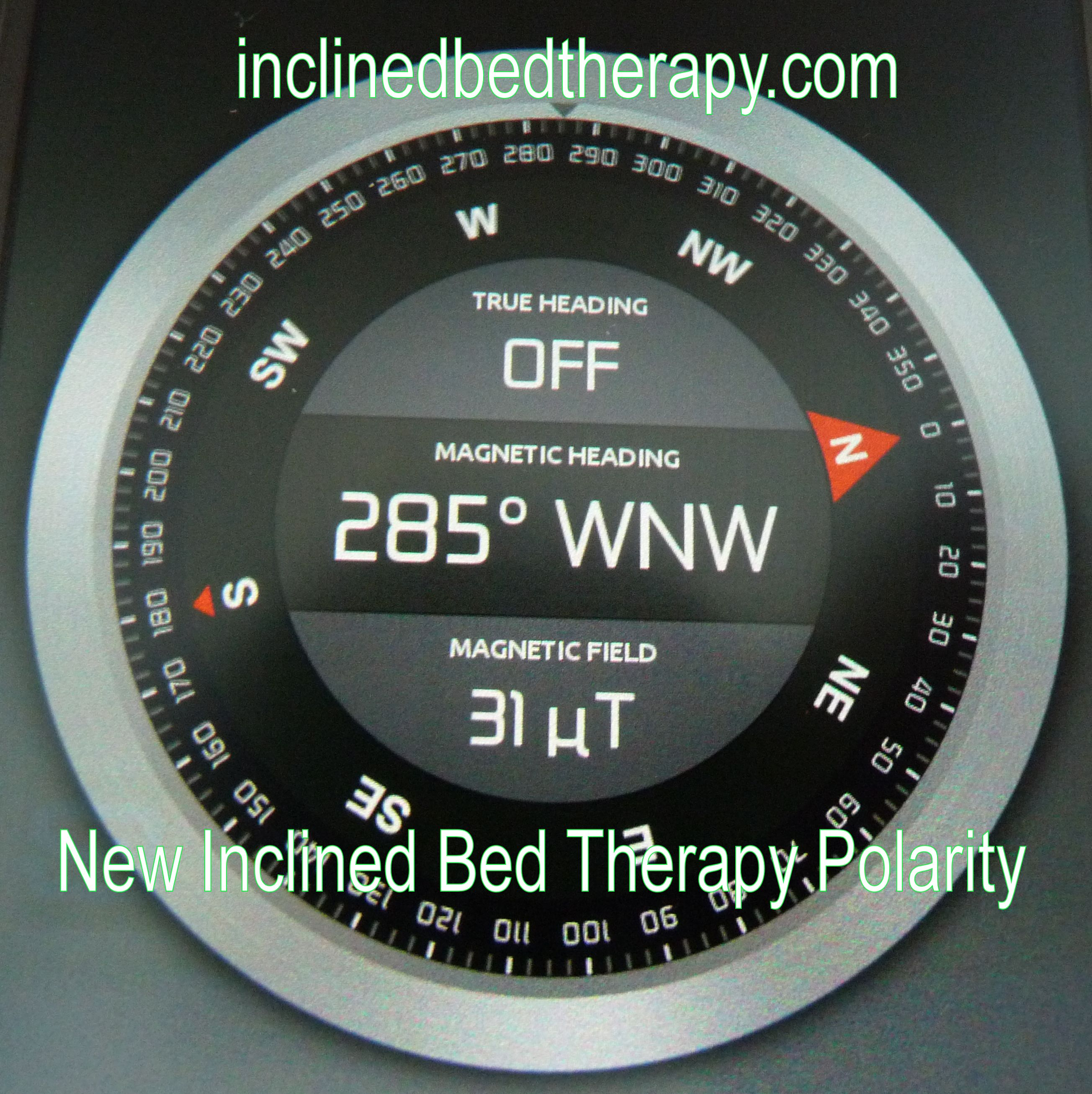 Bed Polarity and Inclined Bed Therapy using a mobile Compass App ...