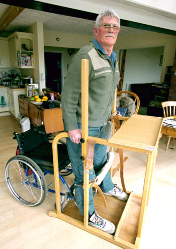 John Cann Spinal Cord Injured Using Inclined bed Therapy