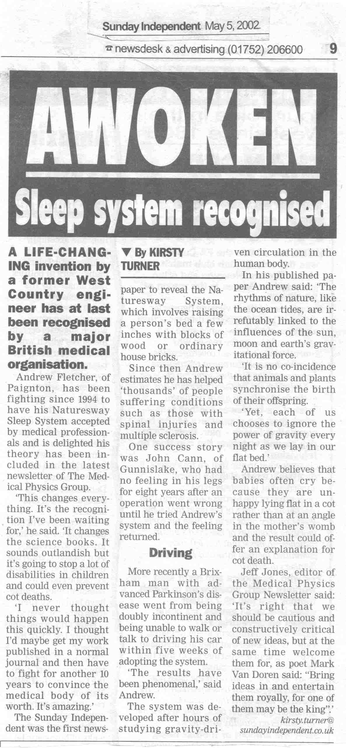 awoken sleep system recognised ibt