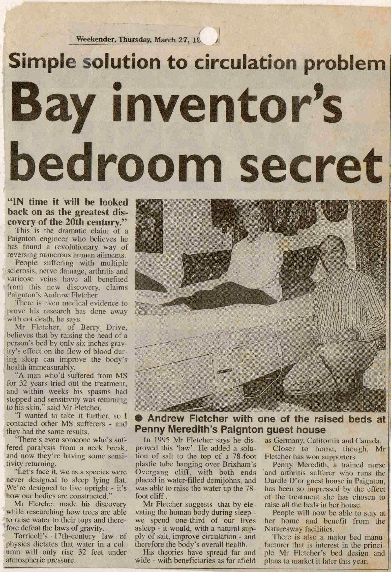 Bay inventor s bedroom secret. Bay inventor s bedroom secret   Inclined Bed Therapy  IBT