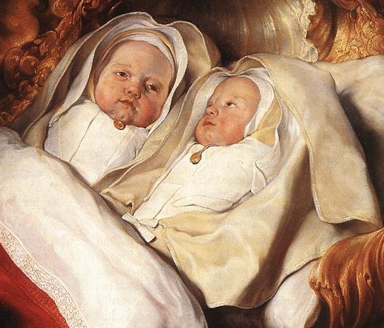 twins de bray salomon de bray sitting up in bed 1646